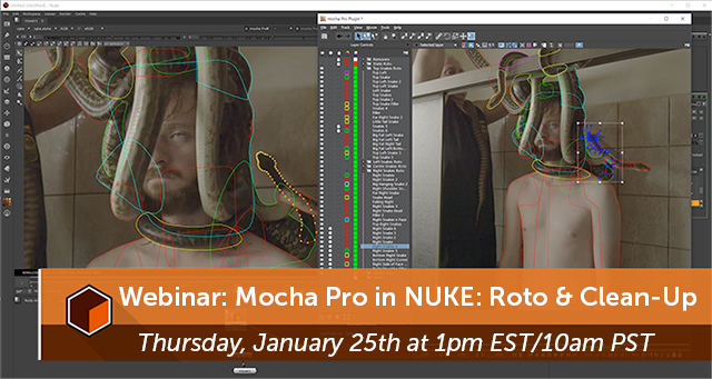 Webinar: Boris FX: Mocha Pro in NUKE – January 25, 2018