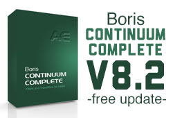News: Boris Continuum Complete AE Version 8.2 Free Updater