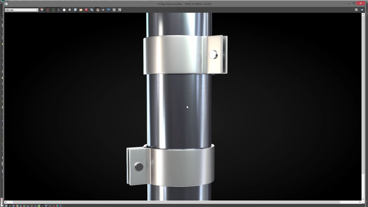 3DS Max: Create Brushed Metal in VRay