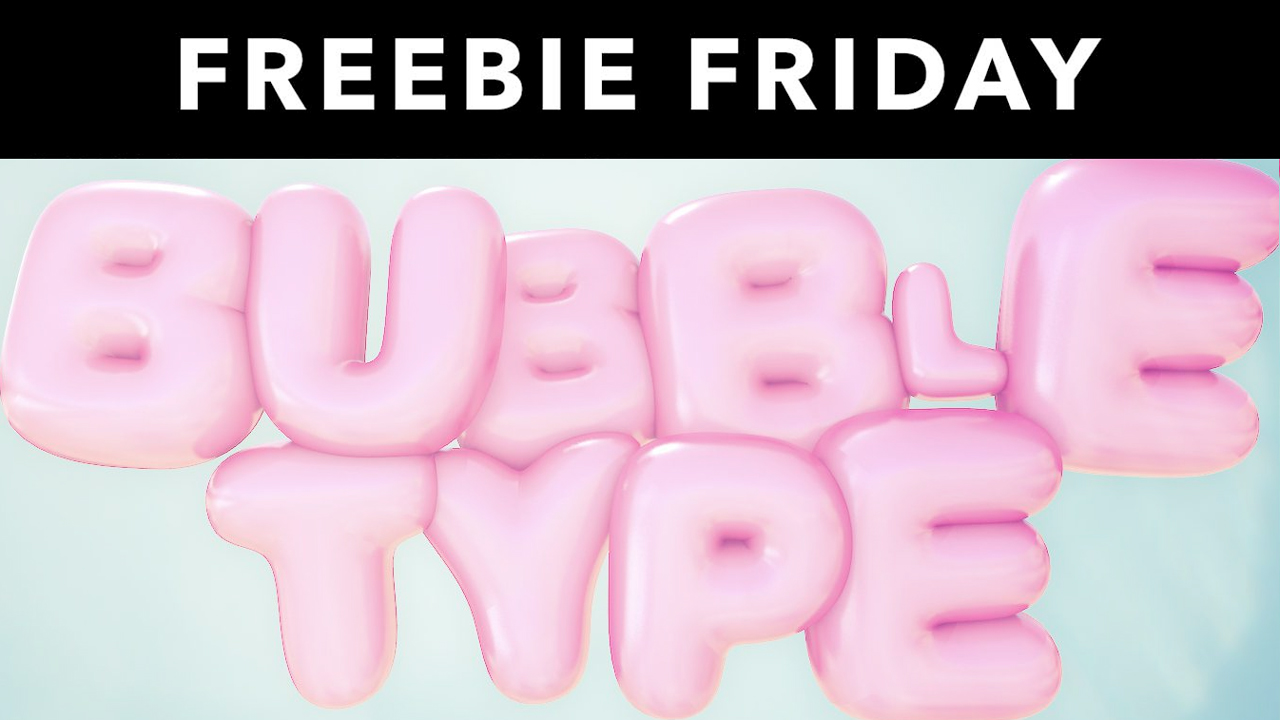 Freebie: 3D Bubble Type Rig for Cinema 4D from eyedesyn