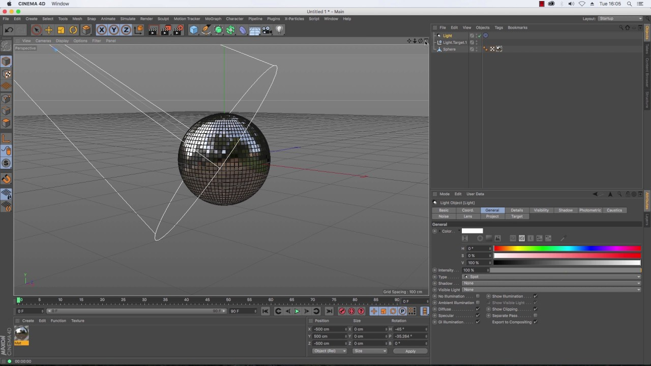 Mirrored Disco Ball in Cinema 4D