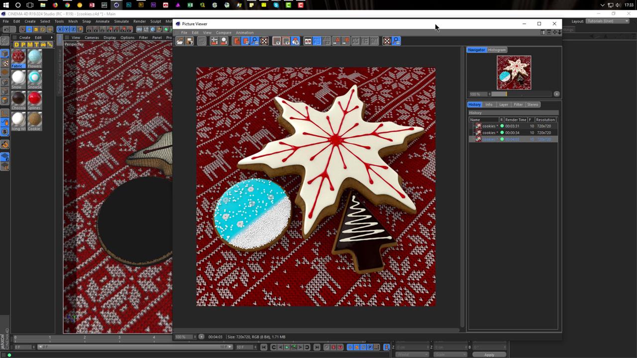 Cinema 4D: Christmas Cookies in CINEMA 4D