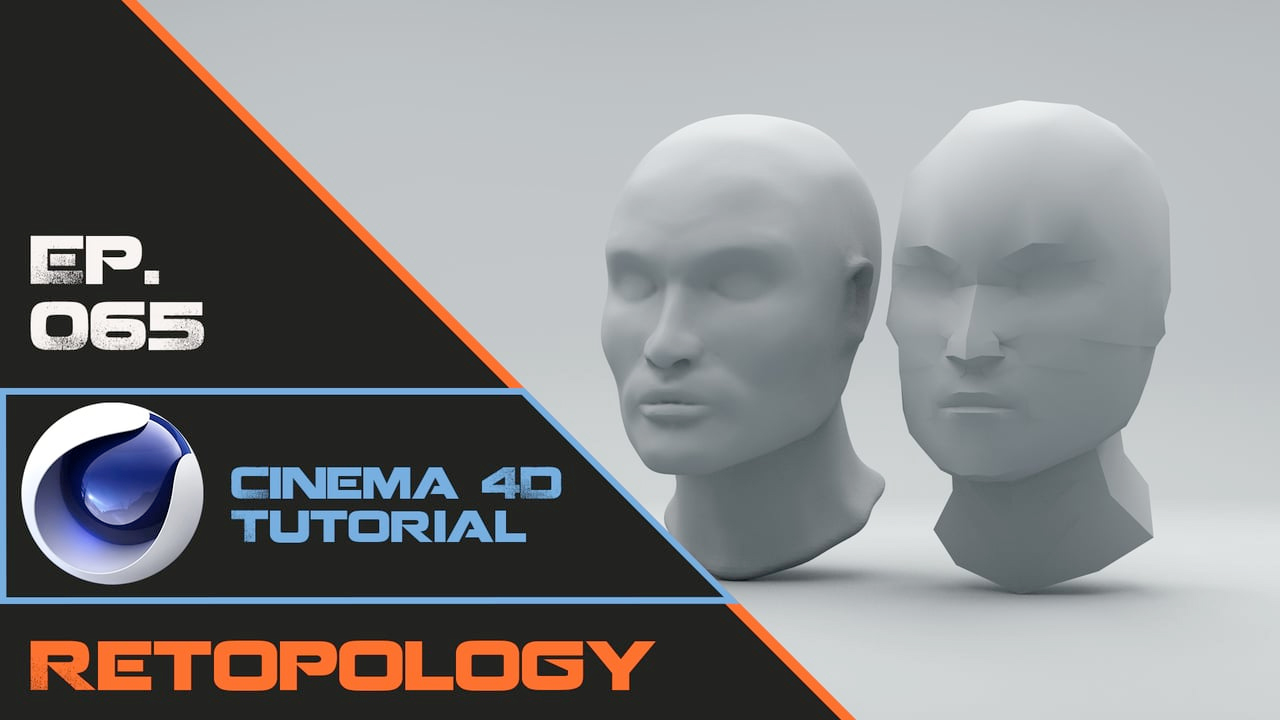 Cinema 4D: Retopology of a Human Head in Cinema 4D