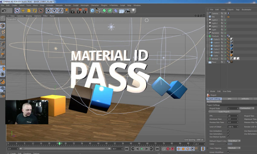 Cinema 4D Custom Material ID Pass Tutorial