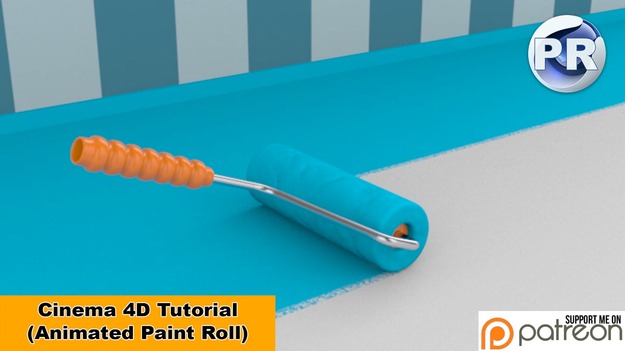 Cinema 4D: Paint Roller Painting Surface Tutorial