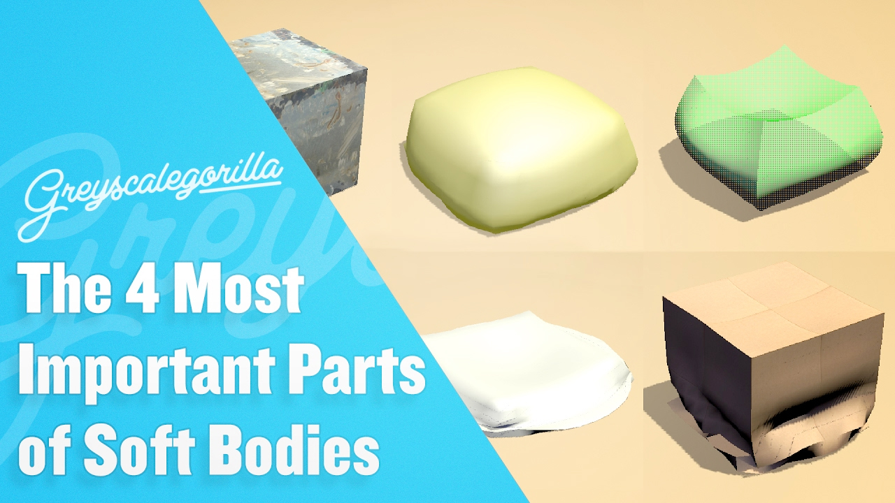 Cinema 4D: The 4 Most Important Parts for Soft Bodies