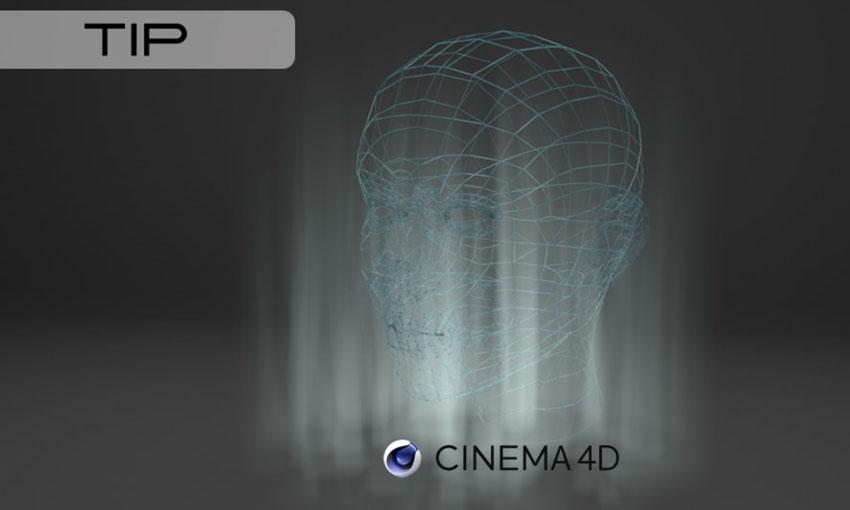 Wireframe Renders in Cinema 4D