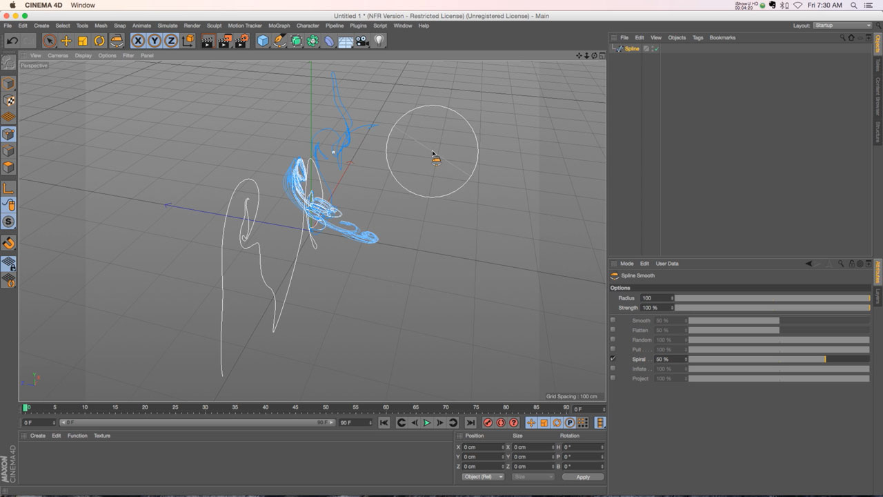 C4D R17 Tutorial: Spline Tool Updates