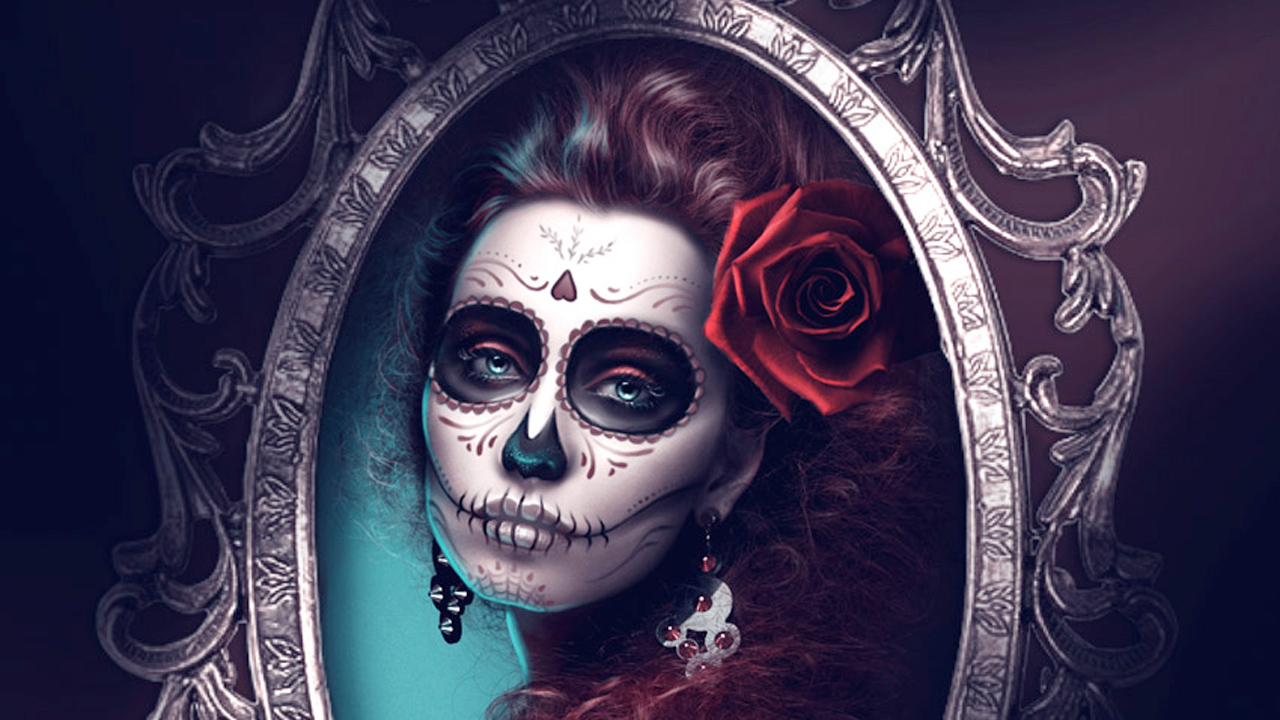 Tutorial: Photoshop: How to Create a Glamorous Calavera Portrait