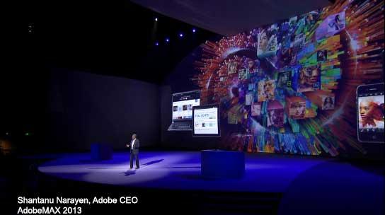 Adobe CEO at AdobeMAX 2013