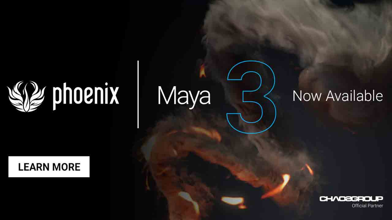 New: Chaos Group Phoenix FD 3.0 for Maya – with new FLIP solver – is Now Available