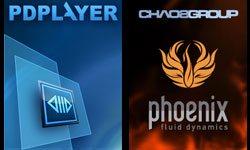 New: Chaos Group Phoenix FD for 3Ds Max; Pdplayer Image Sequence Player