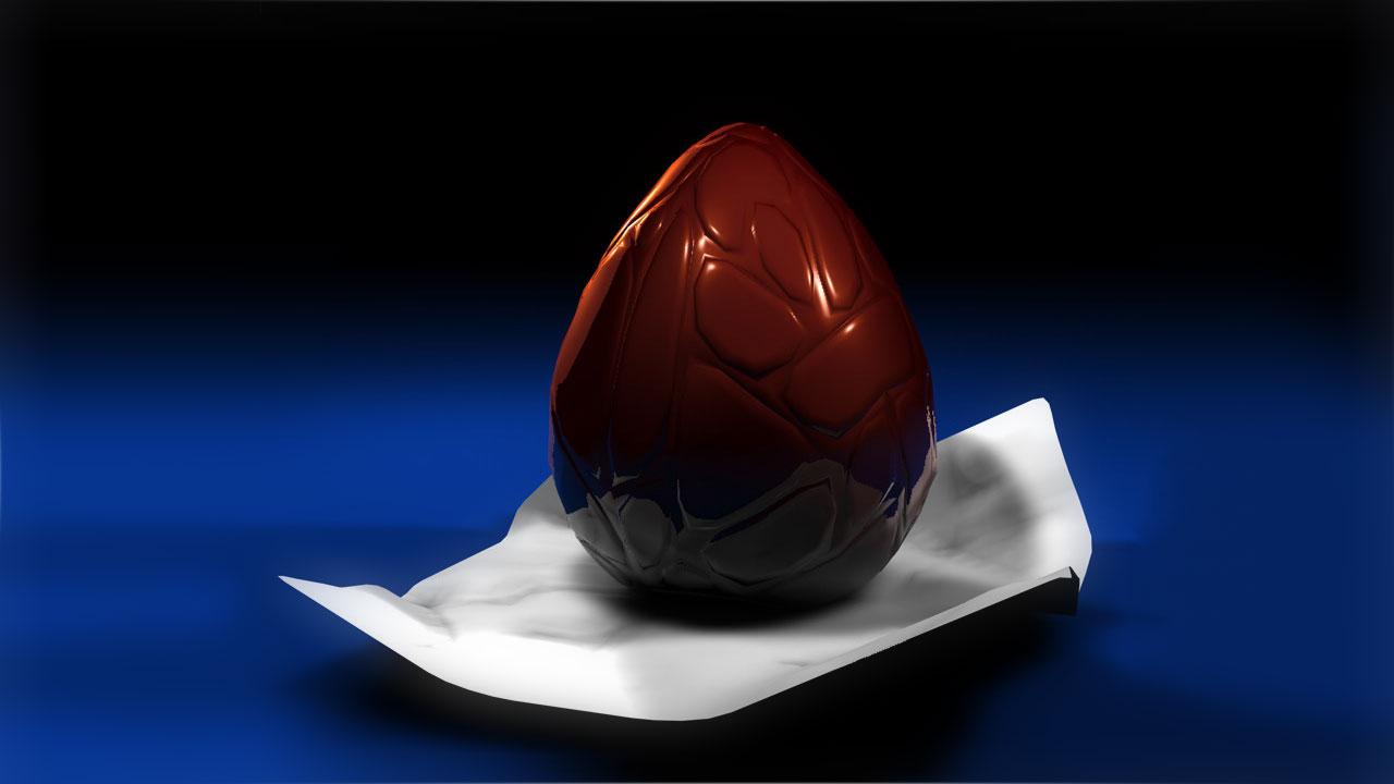 Freebie: Chocolate Easter Egg Model for Cinema 4D - Toolfarm