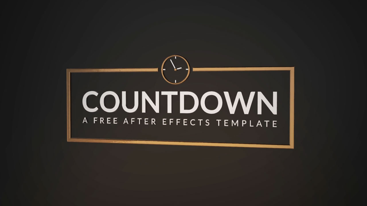 Freebie:  Free After Effects Template: Countdown