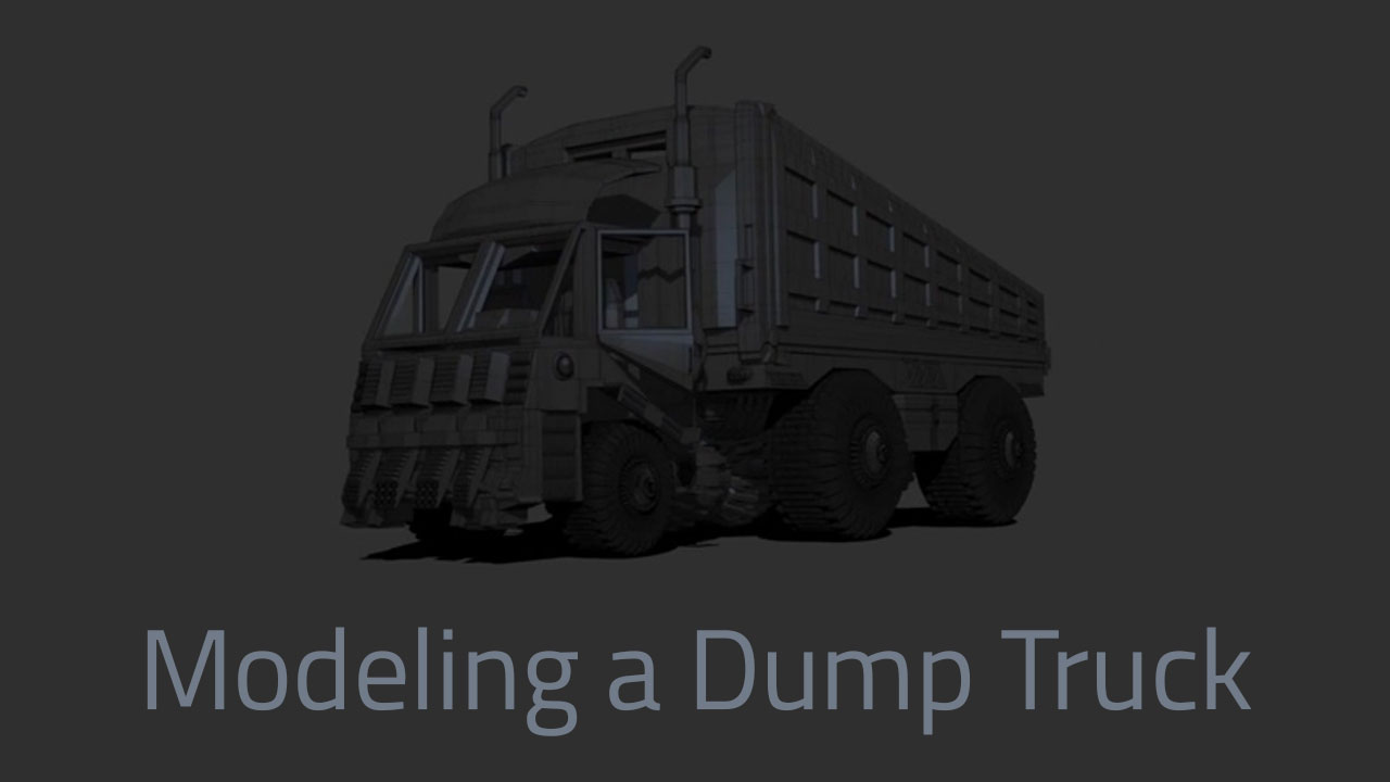 Modeling a Dump Truck with Pixologic ZBrush