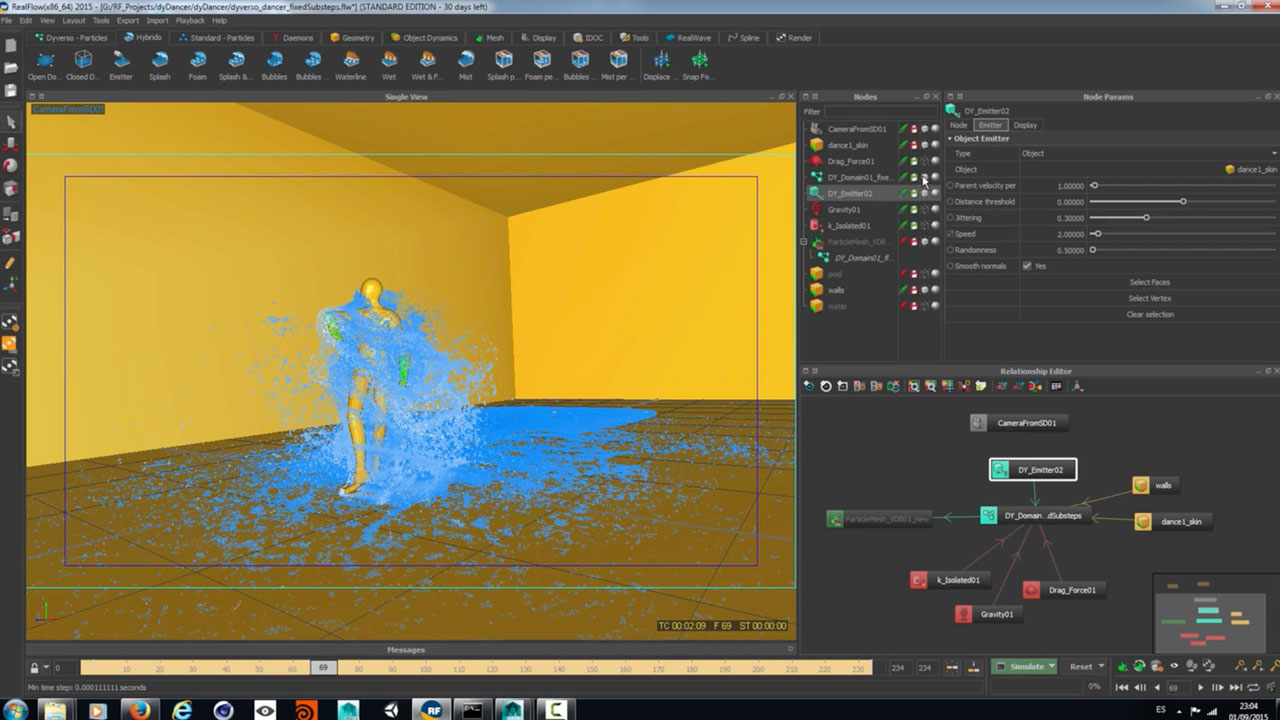 RealFlow 2015 : Dyverso Dancer