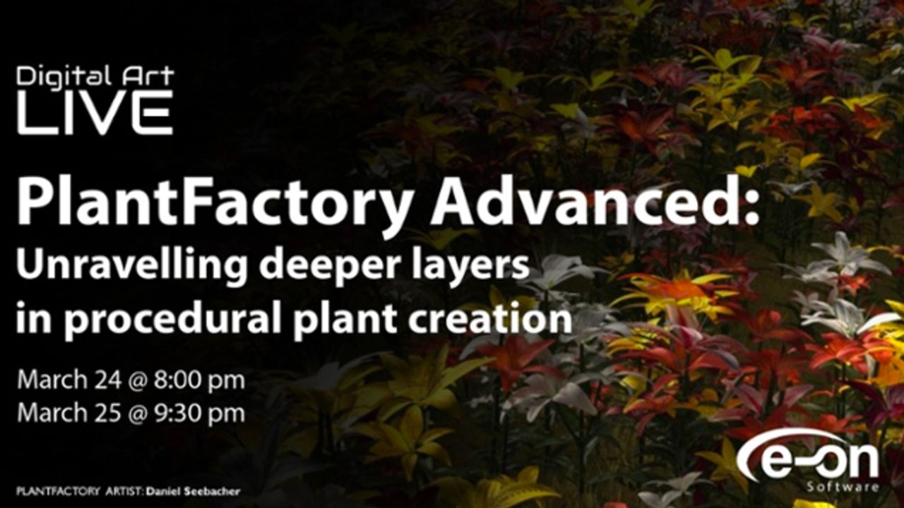 Webinar: e-on Software Plant Factory: Unravelling Deeper Layers in Procedural Plant Creation