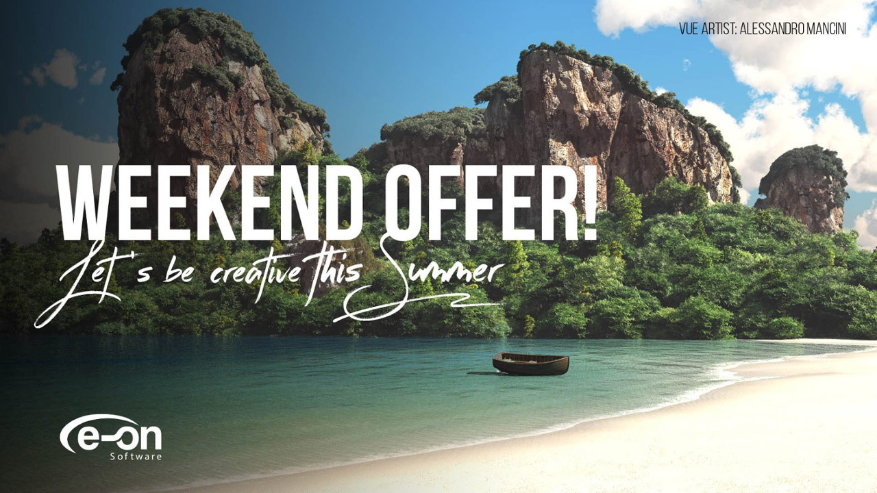 Upcoming Sale: e-on Software Weekend Summer Sale - 50% Off, May 26 & 27, 2018