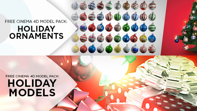 Free: Holiday 3D Models from Eyedesyn