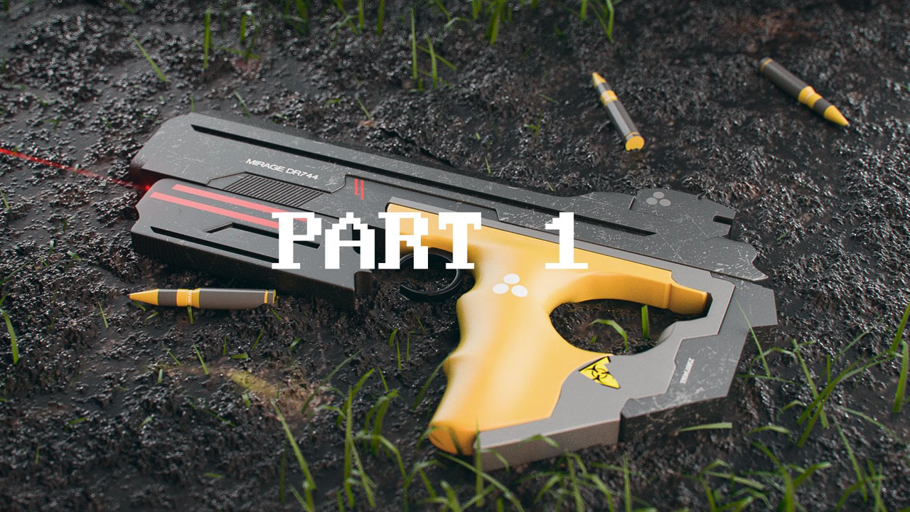Rendering a Sci-fi Gun and Scene With VrayForC4D