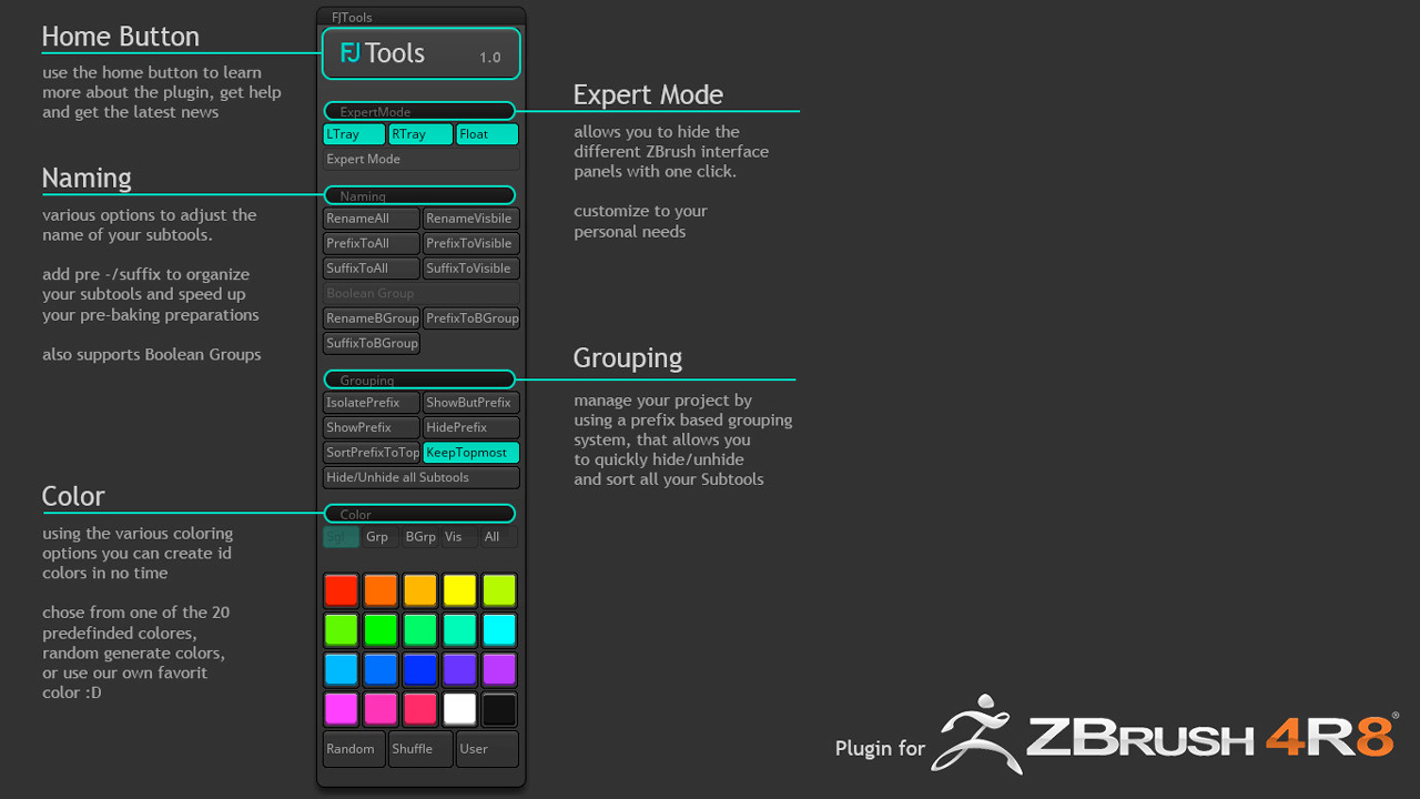 Freebie: ZBrush: FJTools Scripts for ZBrush