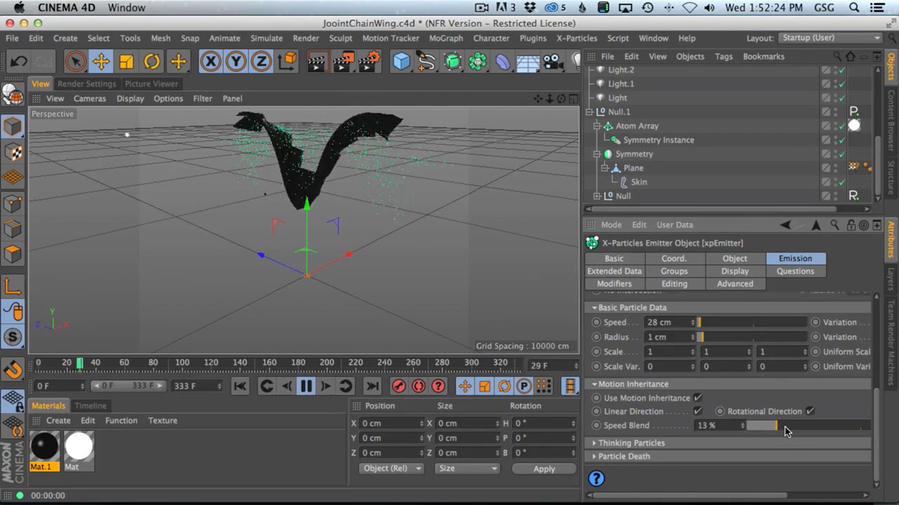 Tutorial: C4D: How To Use Dynamic Joint Chains To Make A Flapping Wing Rig