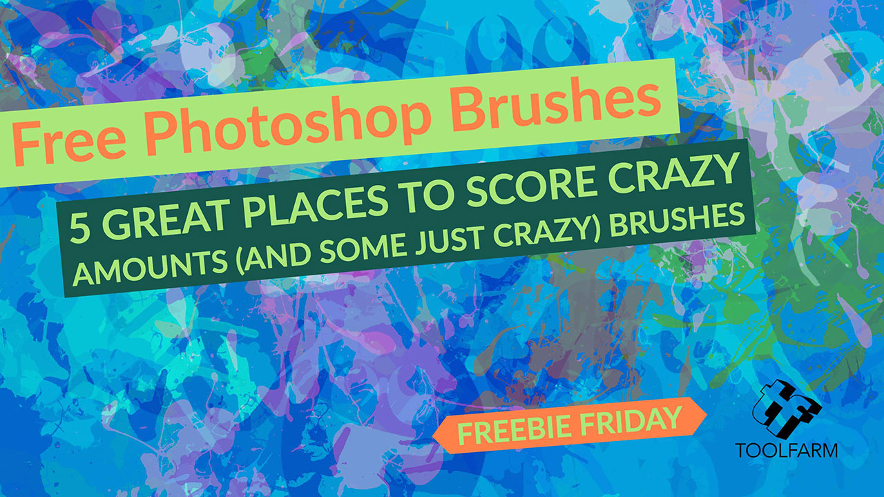 Freebie Friday: 5 Great to Score Crazy Amounts (and Some Just Crazy) Free Photoshop Brushes + Tuts