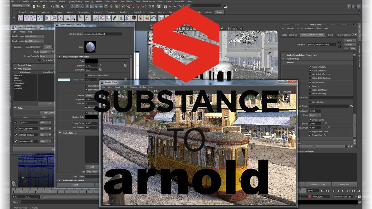 Freebie: Substance Painter to Arnold 5 for Maya 0.1.2