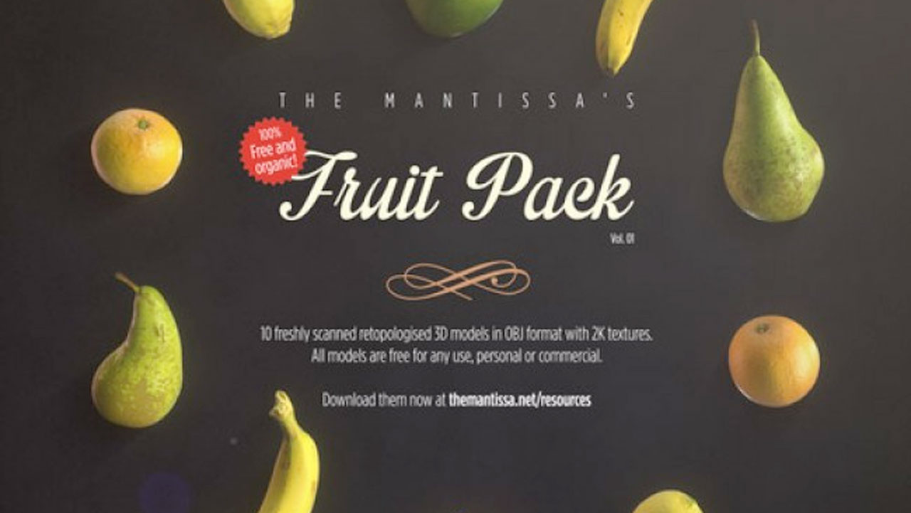 Freebie: 3D: Free models - Fruit Pack Vol 1 - Toolfarm