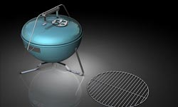 Freebies: Free BBQ Grill Model for Cinema 4D by Remco/ REMMAC 3D