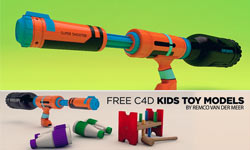 Freebies: Free C4D Models: Kids Toys at The Pixel Lab