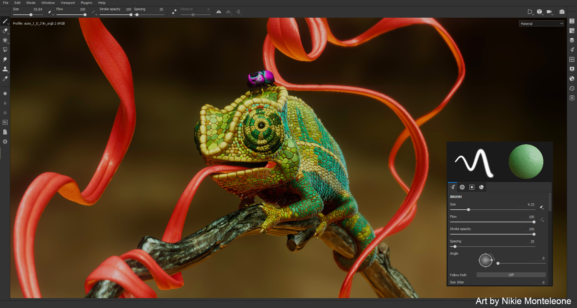Allegorithmic Substance Painter Frog