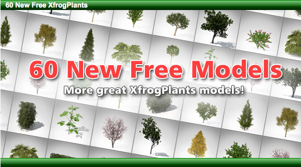 Freebie Friday: 60 Free xFrog Plants for CINEMA 4D and Maya