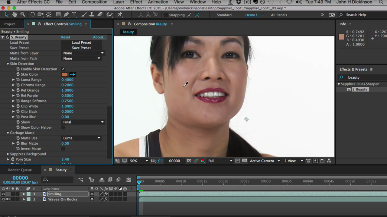 Tutorial: GenArts Sapphire – Remove Imperfections with S_Beauty Effect