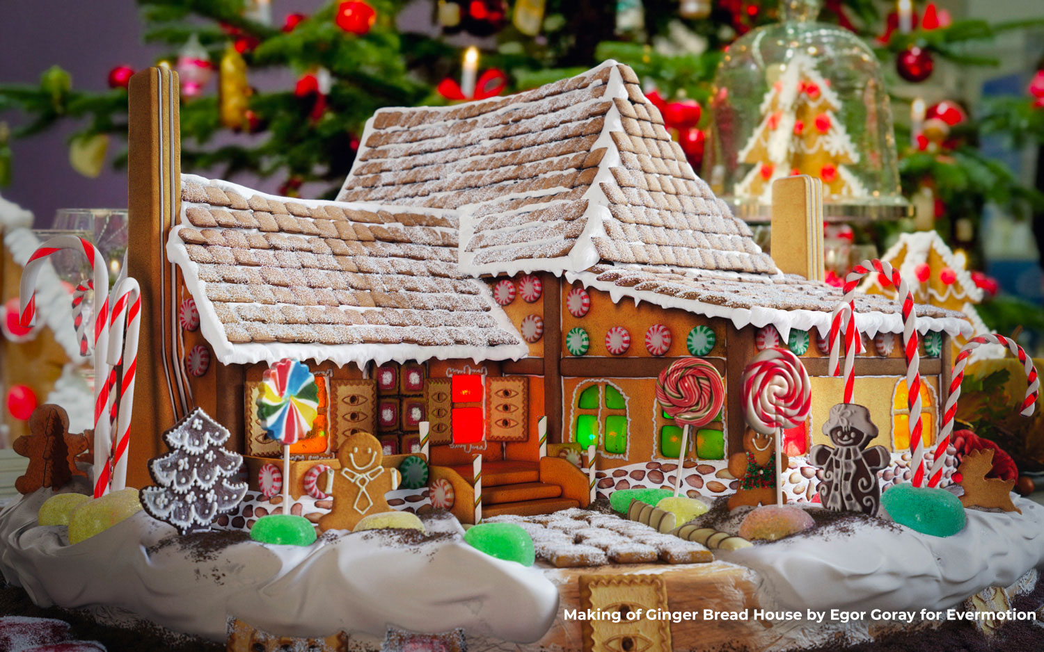 Build your own Gingerbread House or Candy Wonderland in 3D