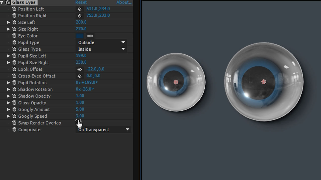 Freebie: Video Copilot Glass Eyes