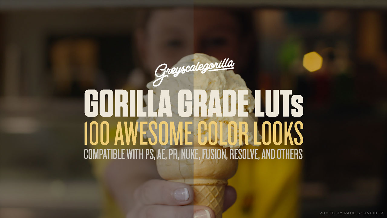 Reminder: Gorilla Grade LUTs Introductory Sale Ends Today March 20, 2017