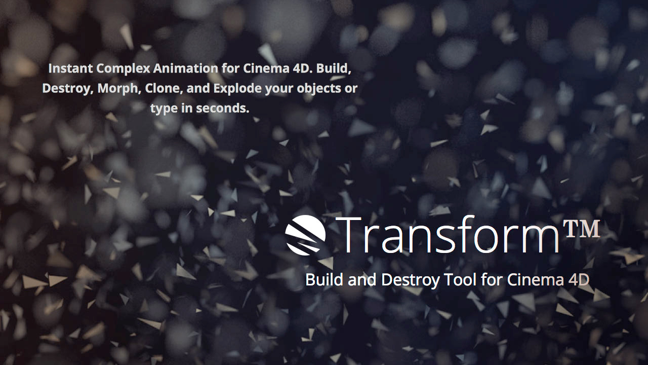 Update: Greyscalegorilla Transform v1.23 – now compatible with C4D R18