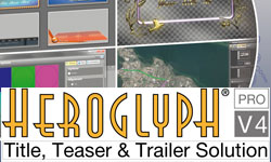 New/PR: proDAD Ships Greatly Enhanced Heroglyph V4 Pro Title, Teaser, Trailer Animation Solution
