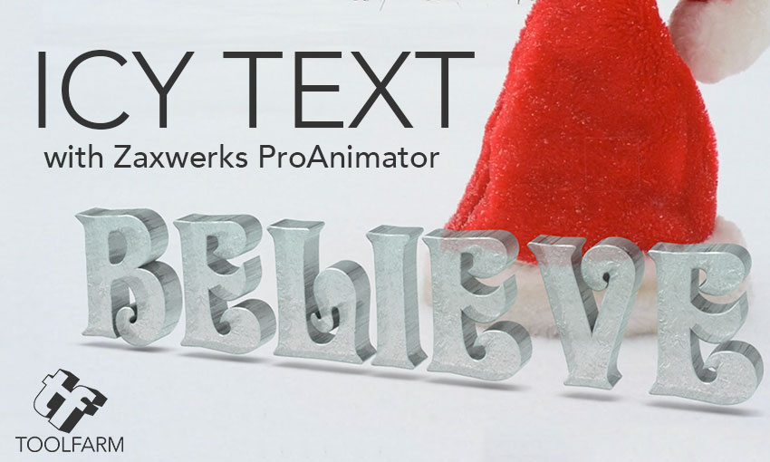 Icy Text with Zaxwerks ProAnimator