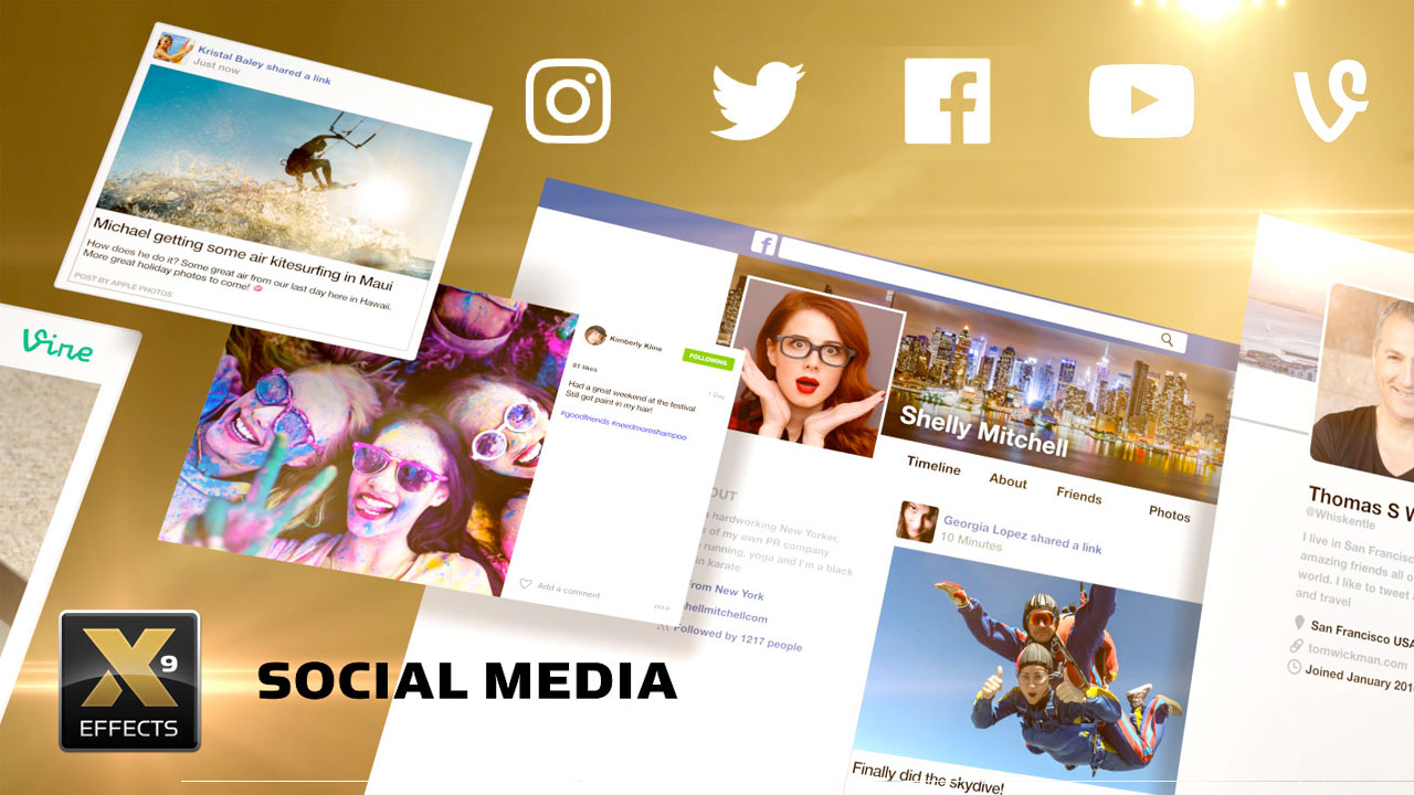 New: idustrial Revolution Social Media – 34 Social Media Themed Templates for FCPX – $49 Intro Price