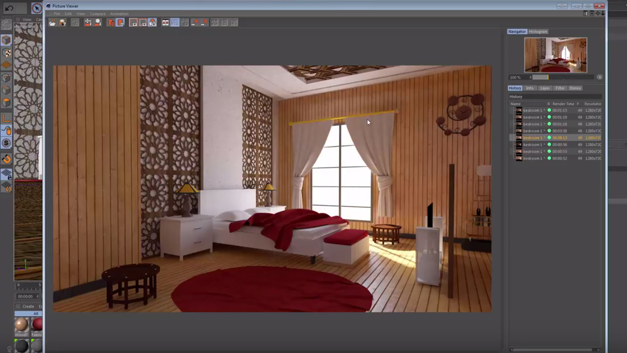 Realistic Interior Render in Cinema with Free Project File