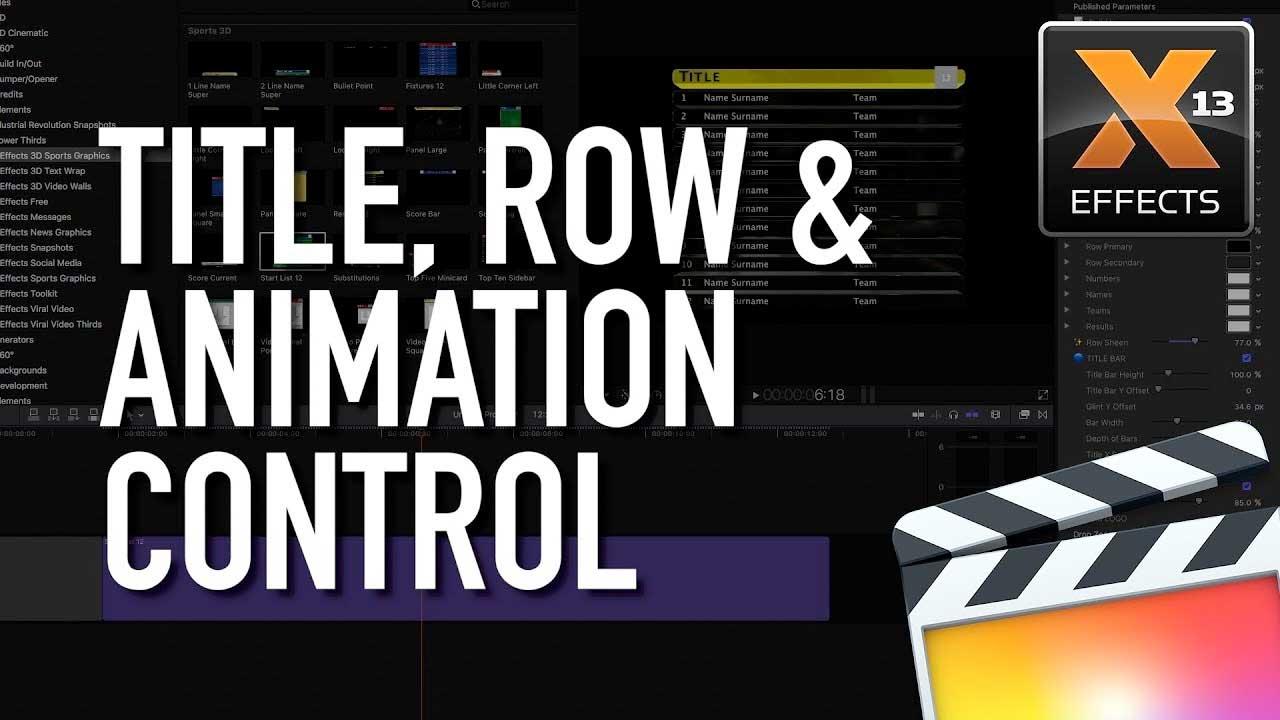 Final Cut Pro X: Idustrial Revolution 3D Sports Graphics Tutorial