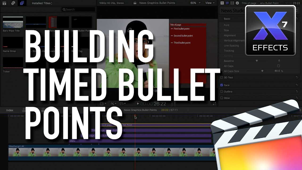 FCPX: Idustrial Revolution Xeffects News Graphics Timed Bullet Points