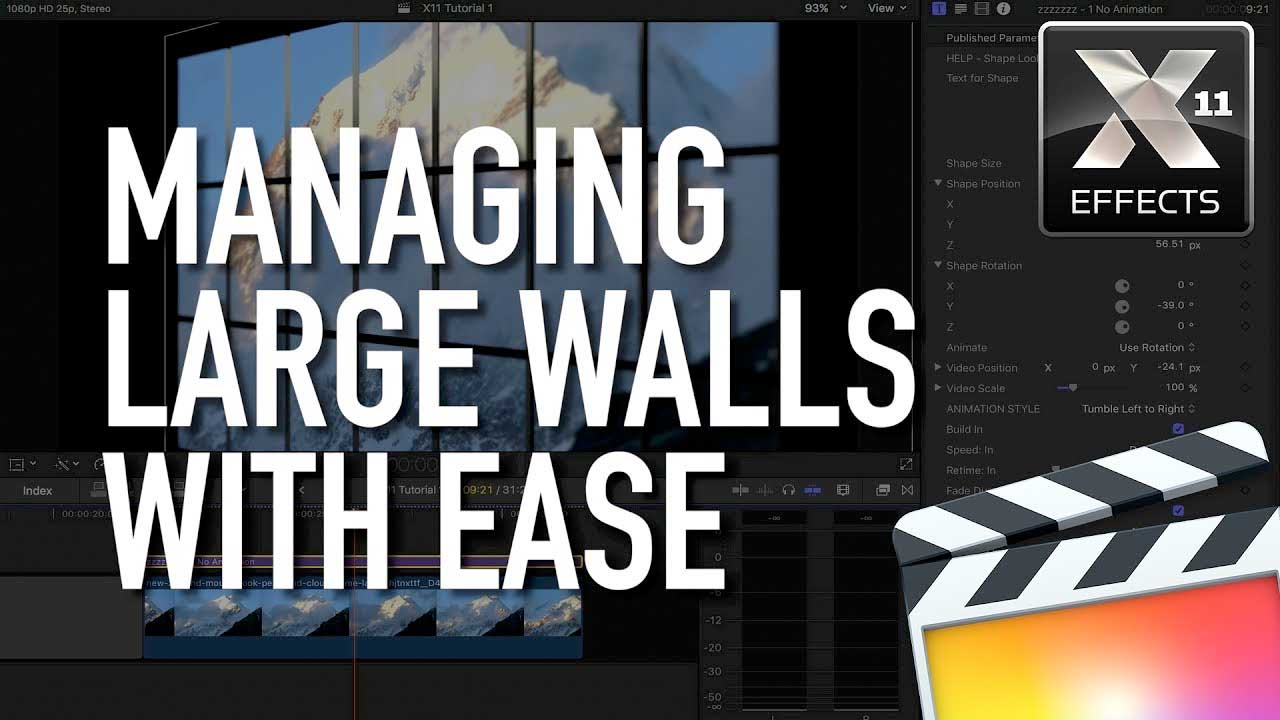 FCPX: Idustrial Revolution 3D Video Walls Tutorial