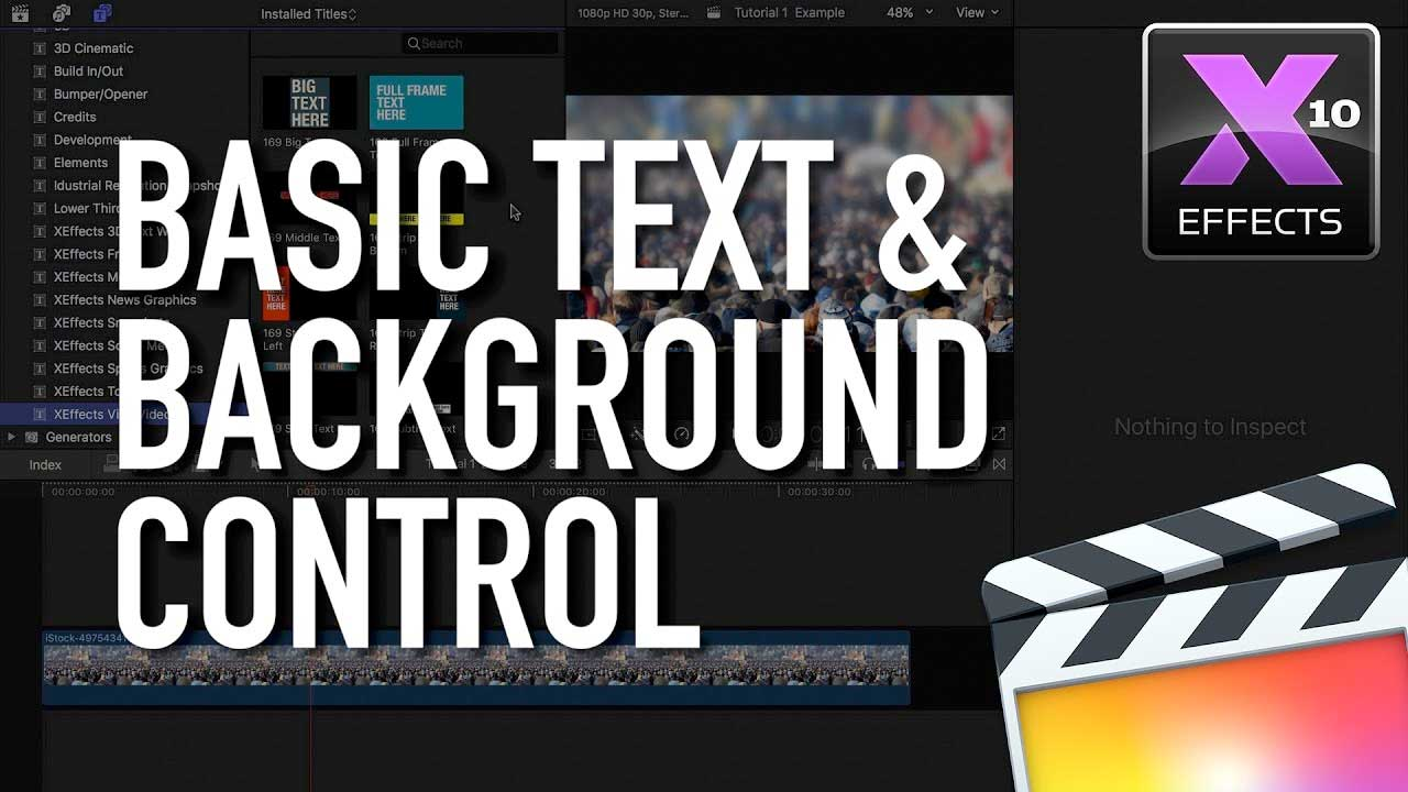 FCPX: Idustrial Revolution Viral Video Text & Background Control