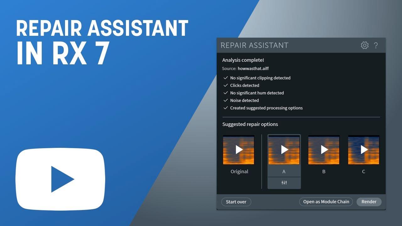 iZotope RX 7 Repair Assistant Tutorial