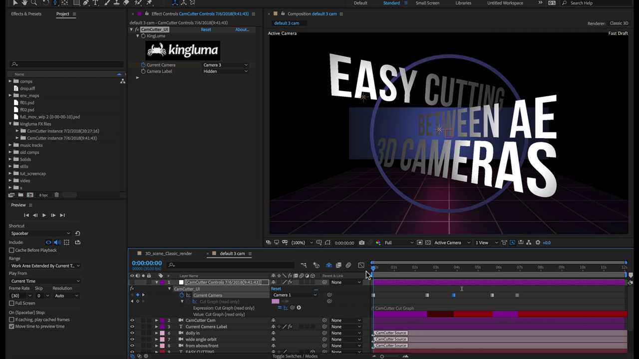 KingLuma CamCutter for After Effects Tutorial
