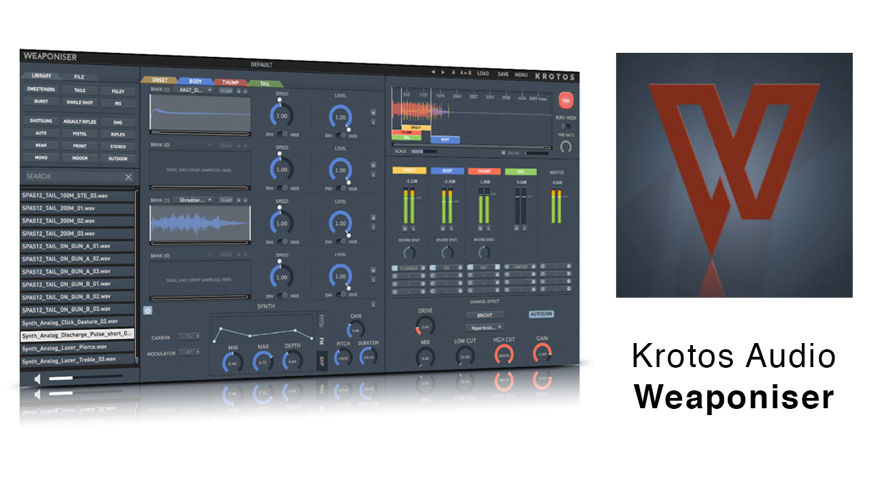 Update: Krotos Audio Weaponiser V1.1.0 – Re-loaded with New Features, Assets and Artist Presets