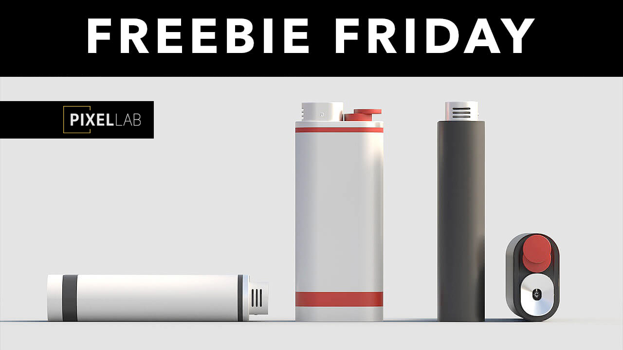 Freebie: Cinema 4D 3D Model: Lighter from The Pixel Lab